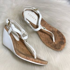Lauren White Leather Sandals